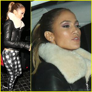 Jennifer Lopez Keeps Her 'Booty' Stylish for Dinner