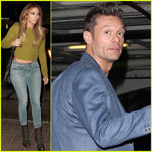 Jennifer Lopez & Ryan Seacrest Dine Together on Veteran's Day