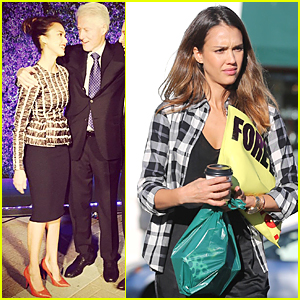 Jessica Alba Supports Bill Clinton at His USC Speech