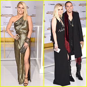 Jessica & Ashlee Simpson Support Evan Ross at 'Hunger Games: Mockingjay' Los Angeles Premiere!