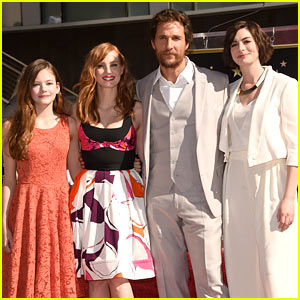 Jessica Chastain & Anne Hathaway Show Support at Matthew McConaughey's Walk of Fame Ceremony!