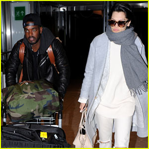 Jessie J's Boyfriend Luke James Does the Heavy Airport Lifting