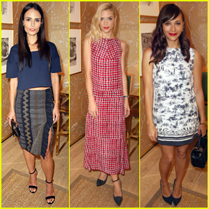 Jordana Brewster & Jaime King Spend a Night Out with 'Vogue' at Tory Burch Watch Collection