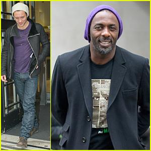 Jude Law & Idris Elba Look Perfect in Purple!