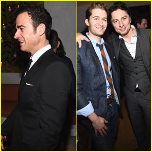 Justin Theroux & Zach Braff Make it a Guys Night at Golden Globe Awards Season Celebration