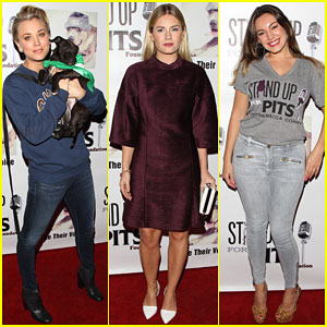 Kaley Cuoco & Kelly Brook Show Their Support at Stand Up for the Pits
