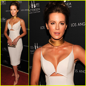 Kate Beckinsale Sports Major Cleavage at Battersea Power Station Global Launch Party
