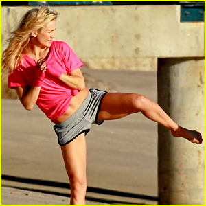 Kate Hudson Shows Off Karate Moves for Beach Photo Shoot