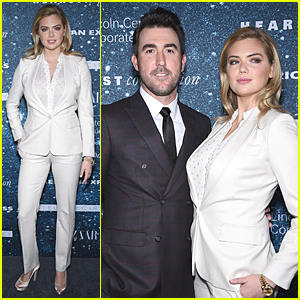 Kate Upton & Boyfriend Justin Verlander Don't Let Traffic Stop Them at Women's Leadership Award
