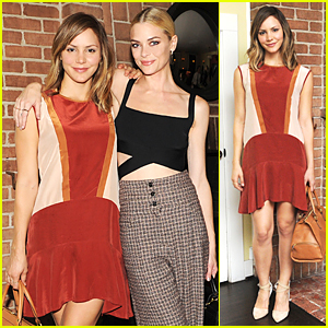 Katharine McPhee & Jaime King Catch Up at Ghurka Collection Launch