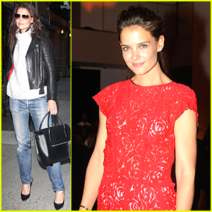 Katie Holmes is Ravishing Red at Film Benefit 2014