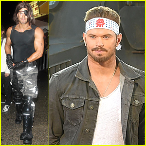 Kellan Lutz's Muscles Are Put On Display For Snake Plissken Halloween Costume
