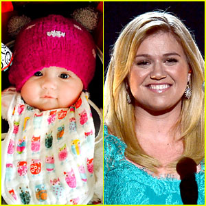Kelly Clarkson Wants to Squeeze Her Daughter's Face Off!
