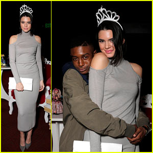 Kendall Jenner Is Just Jared's Homecoming Queen, Wears Crown to Prove It!