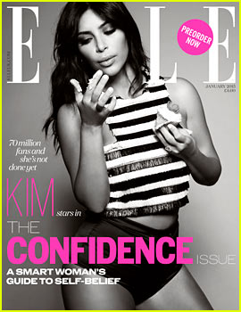 Kim Kardashian Is Confident Enough to Eat Cupcakes for 'Elle UK'