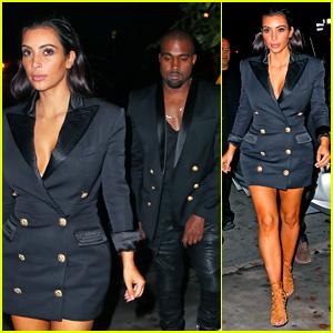 Kim Kardashian & North West Have Matching Balmain Blazers