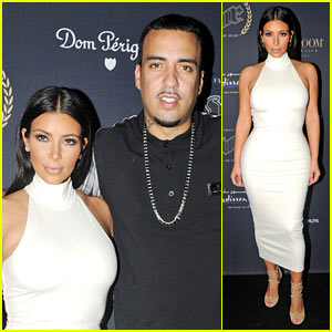 Kim Kardashian Parties with French Montana & Surprises the Troops in Abu Dhabi