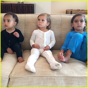 Kim Kardashian Shares Cutest Pic of North West with Mason & Penelope Disick