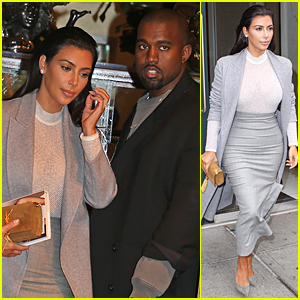 Kim Kardashian Wears Fifty Shades of Grey During NYC Outing with Kanye West
