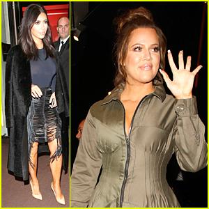 Kim & Khloe Kardashian Meet Up in London Town