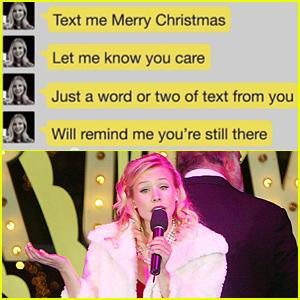 Kristen Bell Belts Out a New Modern Christmas Carol 'Text Me Merry ...