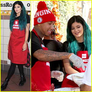 Kylie Jenner & Tyga Volunteer to Feed the Homeless Before Thanksgiving