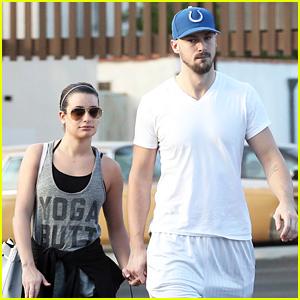 Lea Michele Holds Hands with Her Boyfriend Matthew Paetz