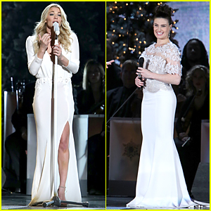 LeAnn Rimes & Idina Menzel Rock Holiday White For CMA Country Christmas Show