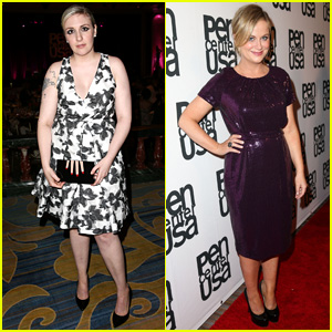 Lena Dunham & Amy Poehler are Literary Awards Festival Ladies