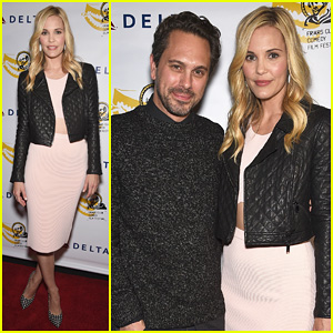 Leslie Bibb Gets Dolled Up for 'Take Care' New York Screening with Thomas Sadoski!