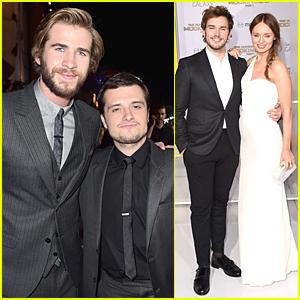 Liam Hemsworth & Josh Hutcherson Buddy Up at 'Hunger Games: Mockingjay' Los Angeles Premiere!
