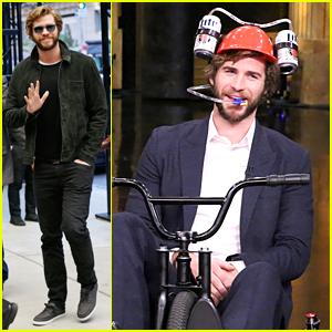 Liam Hemsworth Competes Against Jimmy Fallon in Tricycle Race on 'Tonight Show'!
