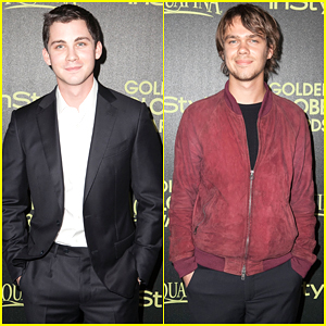Logan Lerman Talks About Punching Brad Pitt in the Face