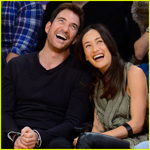 Maggie Q & Dylan McDermott Couple Up at Lakers Game!