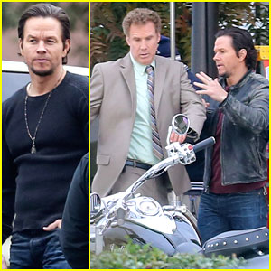 Mark Wahlberg & Will Ferrell Goof Around on 'Daddy's Home' Set