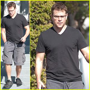 Matt Damon Steps Out After Confirming Jason Bourne News