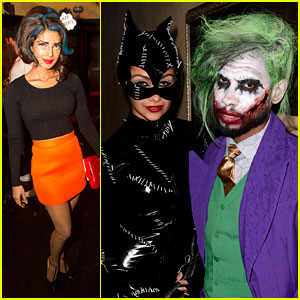 Miguel Looks Super Scary as The Joker at Just Jared's Halloween Party!