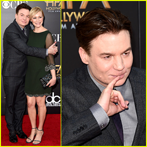 Mike Myers Poses as Dr. Evil at Hollywood Film Awards 2014!