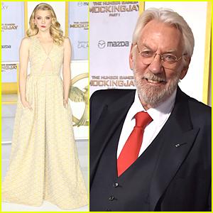 Natalie Dormer & Donald Sutherland Get Dressed Up For 'Hunger Games: Mockingjay' Los Angeles Premiere!