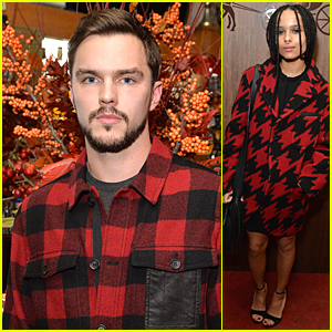 Nicholas Hoult & Zoe Kravitz Get Stuffed On Turkey at Coach Thanksgiving Dinner