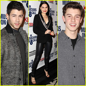 Nick Jonas & Jessie J Perform for Musicians on Call in NYC