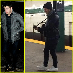 Nick Jonas Gives Surprise Performance in a NYC Subway Station - See the Pic!
