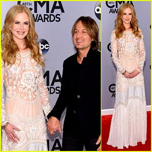 Nicole Kidman Supports Husband Keith Urban at CMA Awards 2014!
