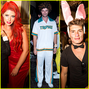 Patrick Schwarzenegger & Sister Katherine Keek Out at Just Jared's Halloween Party!
