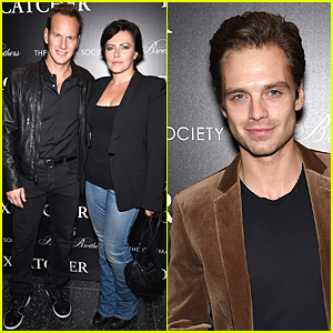 Sebastian Stan Looks Handsome in Brown Blazer at 'Foxcatcher' Screening in NYC