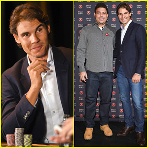 Rafael Nadal Beats Ronaldo Nazario In Poker Match for Charity!