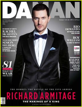 Richard Armitage Dresses Like James Bond For 'Da Man' Cover