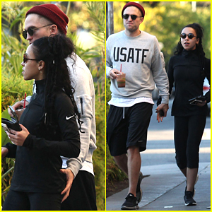 Robert Pattinson Grabs FKA twigs' Butt During PDA Fi