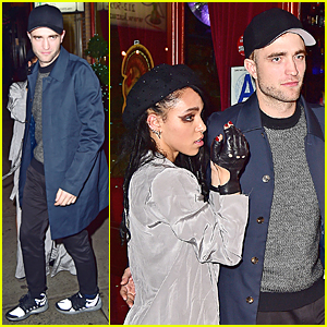 Robert Pattinson Can't Keep His Hands Off Girlfriend FKA twigs at Her NYC Concert After Party!