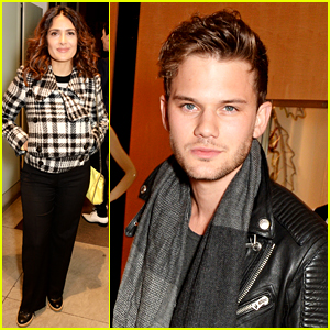 Salma Hayek & Jeremy Irvine Turn on Christmas Lights with Stella McCartney